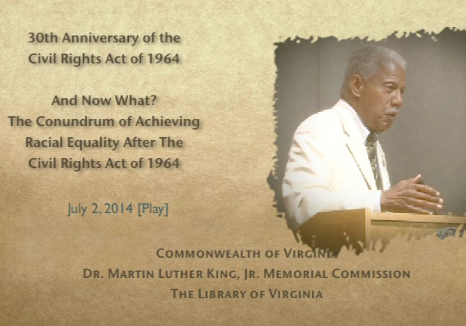30th Anniversary of the Civil Rights Act of 1964 Part 1