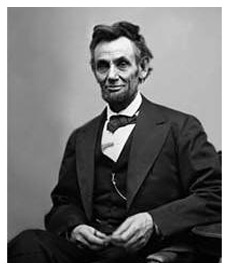 The last portrait of President Lincoln