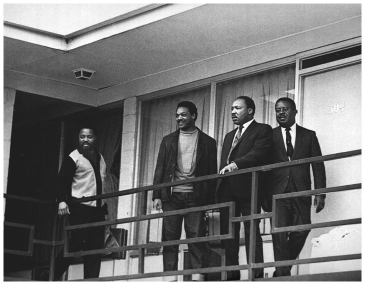Dr. Martin Luther King on balcony