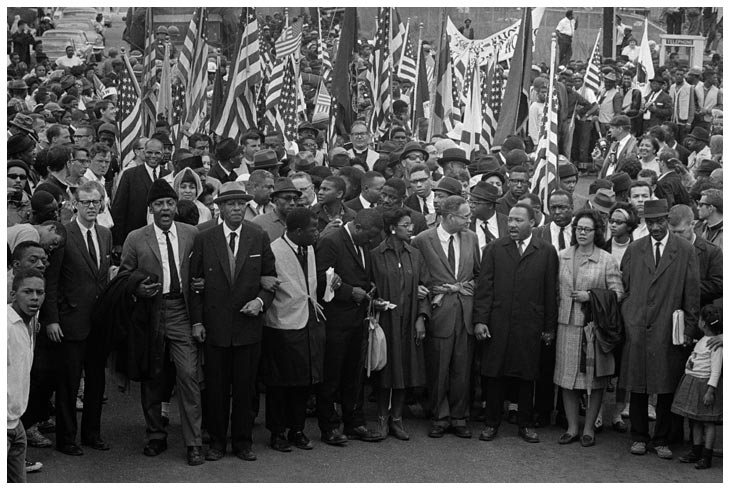 Dr. Martin Luther King leads march