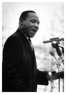 Dr. Martin Luther King speaking